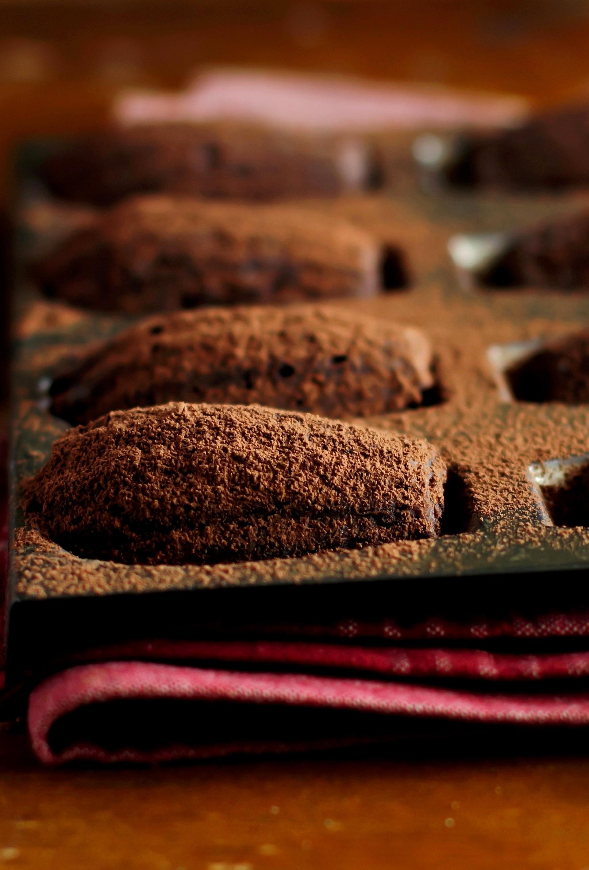 Madeleine au chocolat