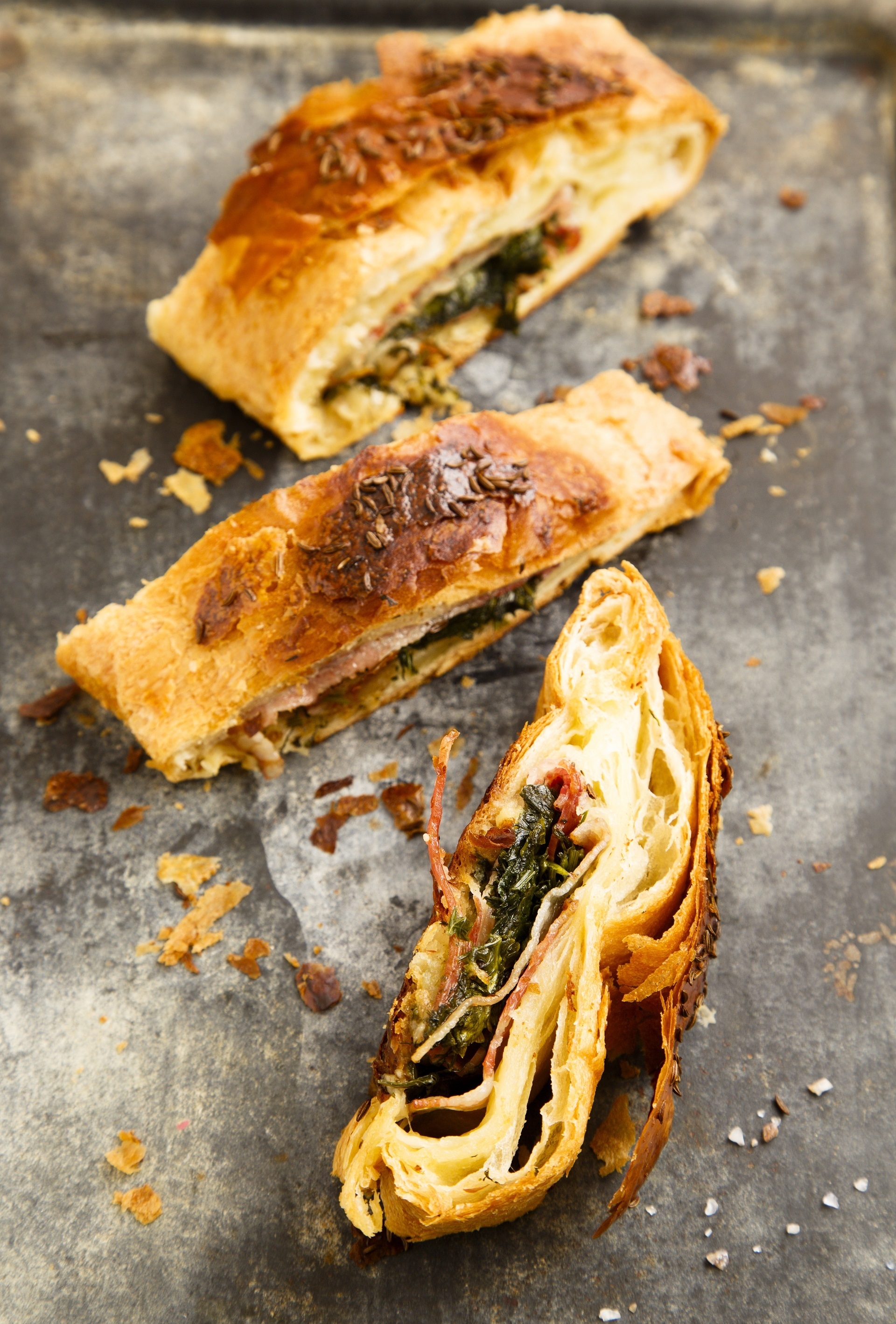 Spinach and bacon pie 1