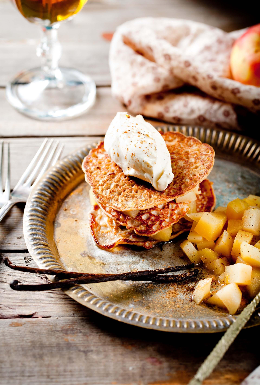Pancakes gluten free con composta di mele