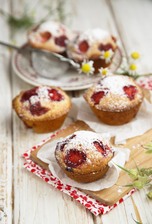 Muffin fragole e vaniglia 2