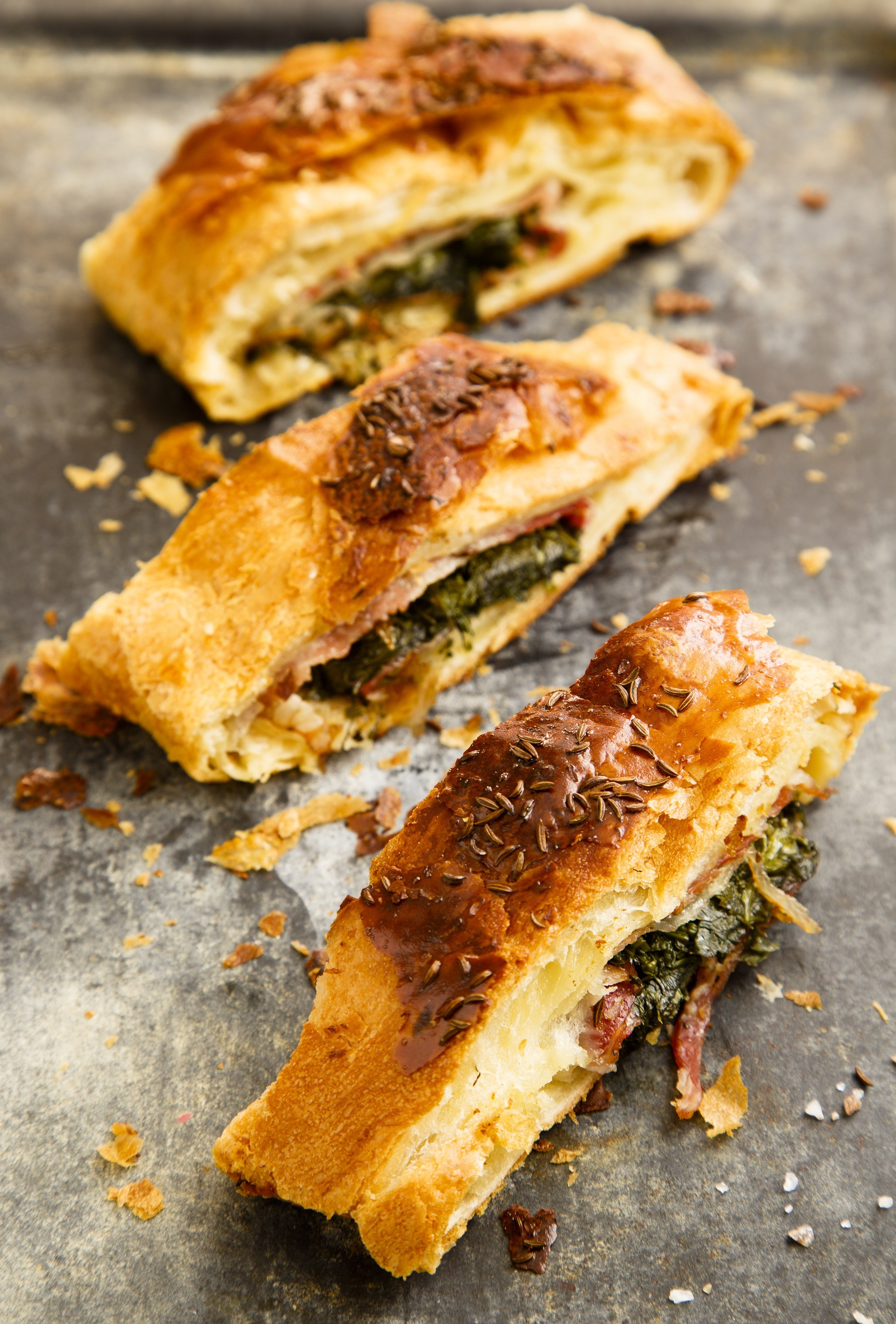 Spinach and bacon pie 2